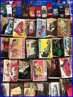 Vintage Huge Lot 65 Plastic Model Cars Trucks JUNKYARD Parts