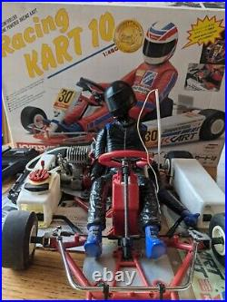 Vintage Kyosho Racing Kart 10 with O. S. Max. 10 Engine Powered RARE UNTESTED