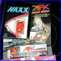 Vintage Lot = Aurora Afx T-jet Maxx Cars Bikes Semi Ho Scale + Parts Free Usps