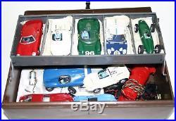 Vintage Lot Eldon Strombecker Slot Cars 1/32 WithCase Controllers, Parts 20+ PCS