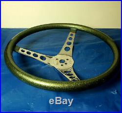 Vintage Metalflake custom steering wheel Superior 500 Hot Rod Rat truck Gasser