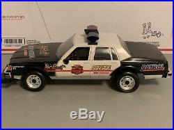 Vintage New Bright Police State Patrol US-1 RC Car + Remote For Parts As Is RARE