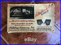 Vintage Original 1940s Car-hop drive in auto trays / GM Ford Chevy hot rod