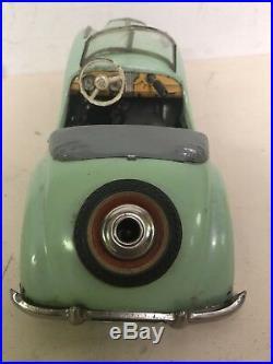 Vintage Post-War Distler Mercedes-Benz Cabriolet Tin Windup Car Toy B2727 Parts