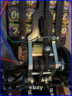 Vintage R/C Car Carbon Fiber Trinity P2K Pro X-ray Novak TC2 AWD Belt Drive Nice