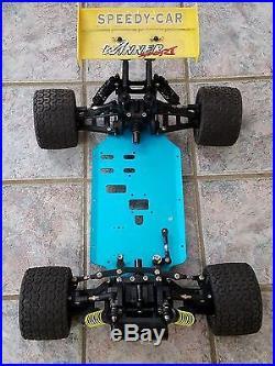 Vintage Parts Cars Vintage R C Rc10 Rc Buggy Rc 10 Blue Aluminum