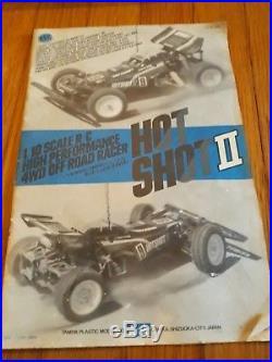 Vintage RC Car Tamiya Hotshot II Hot Shot 2 (1987) 1/10 scale RC Buggy car rtr