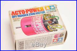 Vintage RC Motor Tamiya Acto Power Pink 2WD 53122 (Rare) Used