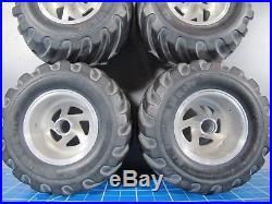 Vintage Sees Aluminum Rims Wheels Tires Tamiya 1/10 Lunchbox Midnight Pumpkin