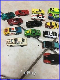 Vintage Slot Car Body & Chassis Lot + Pieces Parts, Aurora, AFX, Tyco, Life Like
