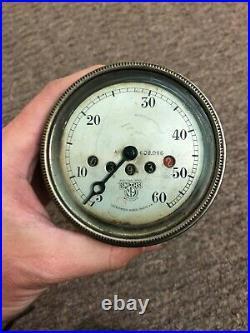 Vintage Smiths Speedometer 0-60 MPH 3 White Face A. 609.096 Rare Car Bike Part