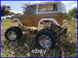 Vintage TRAXXAS SLEDGEHAMMER, SEES aluminum wheels, Patina Bronco Body RC10 JRX2