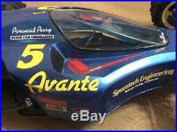 Vintage Tamiya Avante 1988 Upgraded with Carbon Chassis Kit n Hi Cap Dampers