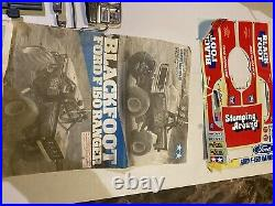 Vintage Tamiya Blackfoot Ford F-150 Pickup Truck Body Shell Bumper Grill Glass