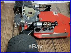 Vintage Tamiya Blackfoot roller, Hot Trick Red Prince Chassis, RRP, Sees wheels