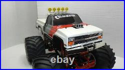 Vintage Tamiya Clod Buster Body ONLY Chevy Bowtie & Chevrolet Tailgate