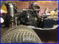 Vintage Traxxas Nitro Rustler 1/10 RC Car Truck Truggy Aluminum A-Arms Body