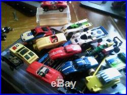Vintage aurora & eldon camaro slot cars lot n case parts bodies