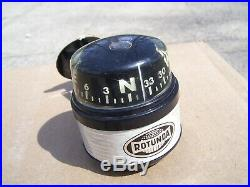 Vintage nos 1960' s Rotunda Ford accessories fomoco auto Compass gauge mustang