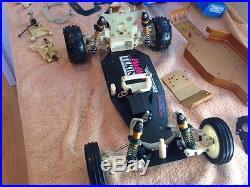 Vintage rc10/graphite chassis/parts lot