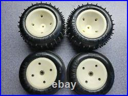 Vintage rc10t front narrow and rear wheels and tires