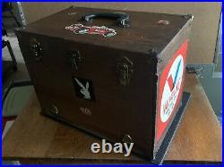 Vtg 1960s HOFFMAN'S No. 1200 Slot Car Pit Storage Box W 1/24 Cars Parts Bodys
