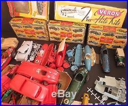 Vtg Model Car Kit Parts Merit Scalex Connaught BRM Lesney Lindberg Veron Randall