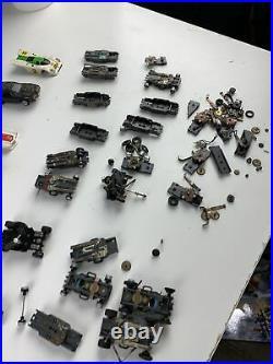 Vtg Slot Car Junkyard Part Lot HO Aurora Vibrator TJet AFX Tyco Parts or Restore